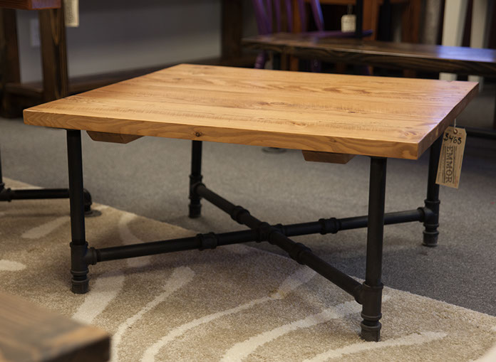 Industrial coffee tables emmorworks for 36 inch square coffee table