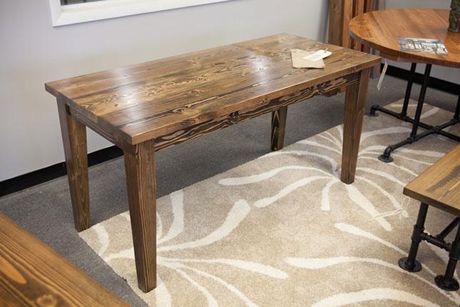 4- farmhouse desk dark walnut tapered