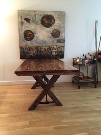 6- trestle table dist dark walnut reagan 1