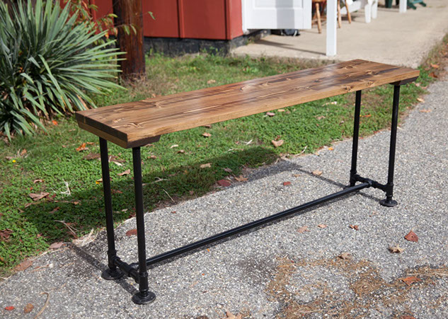 Superior Industrial Sofa Table