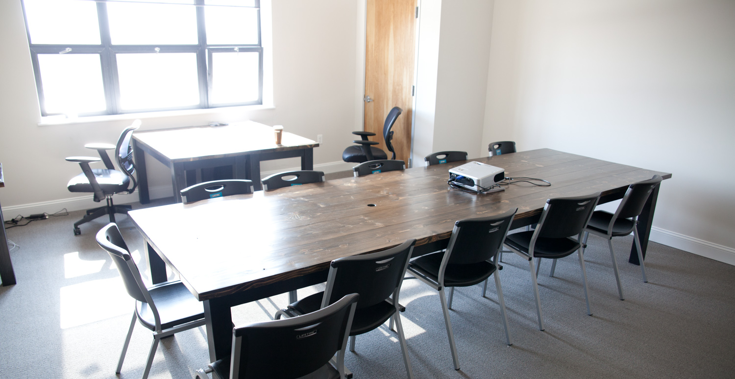 office conference table design. 12\u0027 Farmhouse Conference Table -- Stained Dark Walnut Top With Painted Black Base Wire Access Holes Matching Desks Office Design