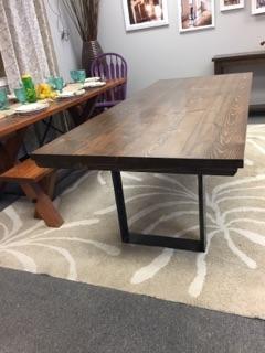 Steel Pedestal Table
