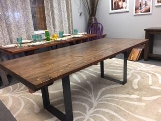 Steel Pedestal Base Table