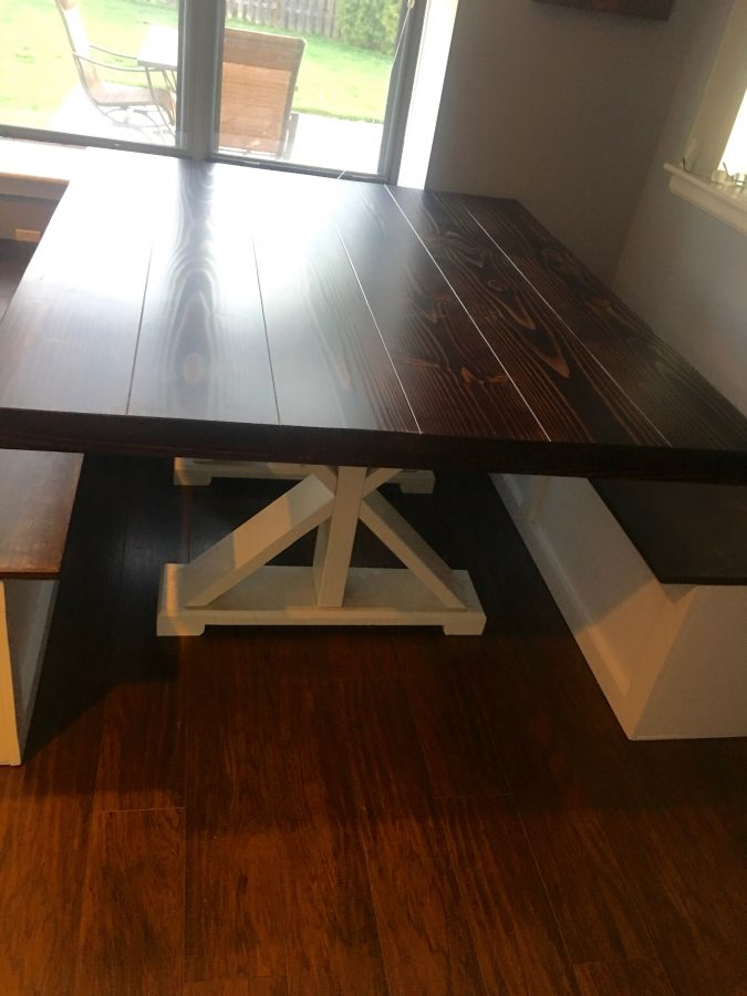 X Pedestal Table