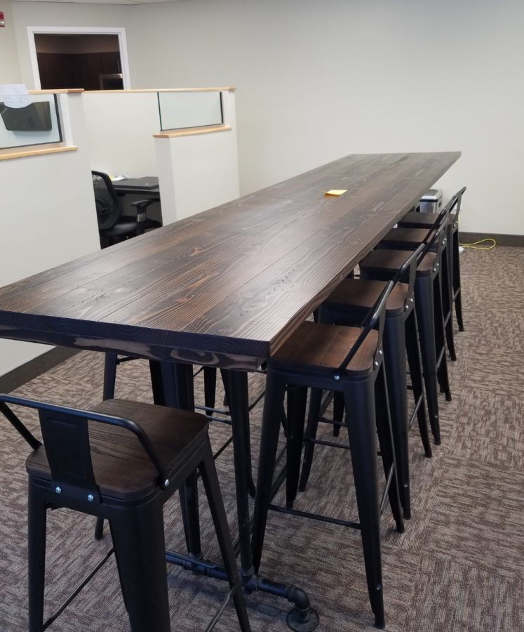 11′ Industrial Conference table (42″ Bar Height)