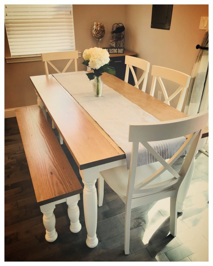 6′ Farmhouse Table with Turned Legs