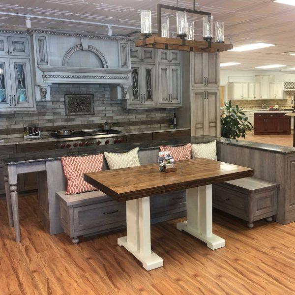Buthcer block table princeton showroom