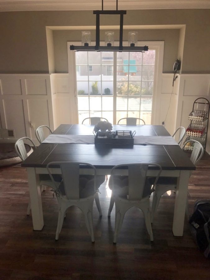 63″ Square Farmhouse table with Breadboards