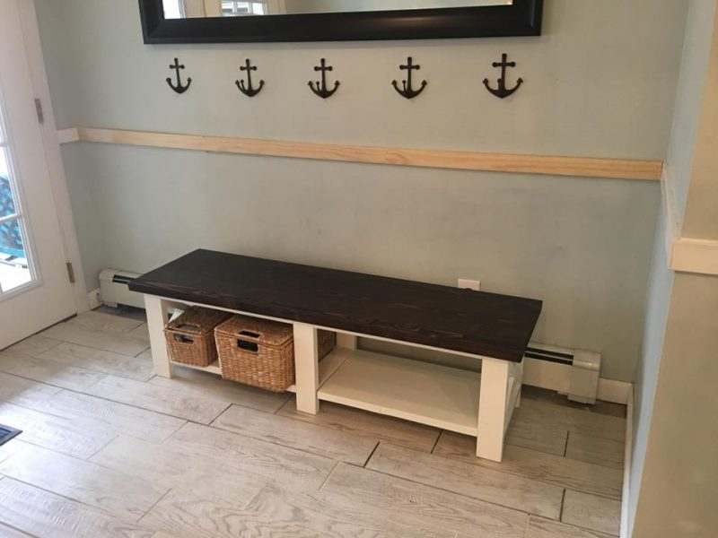 Rustic Mudroom bench