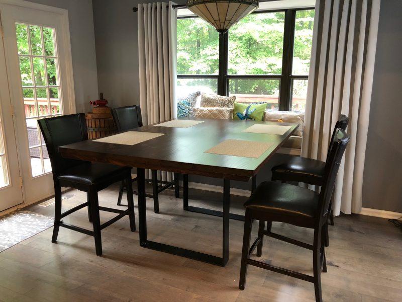 6′ Steel Pedestal Table (54″wide)