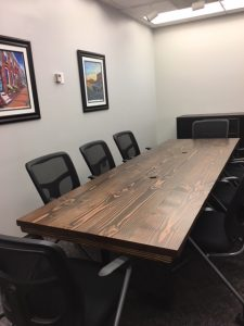9' Steel Pedestal Conference Table