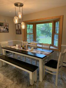 7' Farmhouse Style Table Stained Ebony